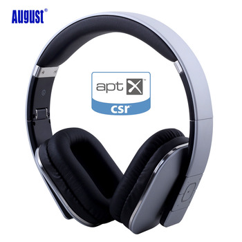 August EP650 Silver Upgrade Wireless Bluetoooth 4.2 Headphones/Headset with EQ APP Control with Microphone for TV,Phone,PC
