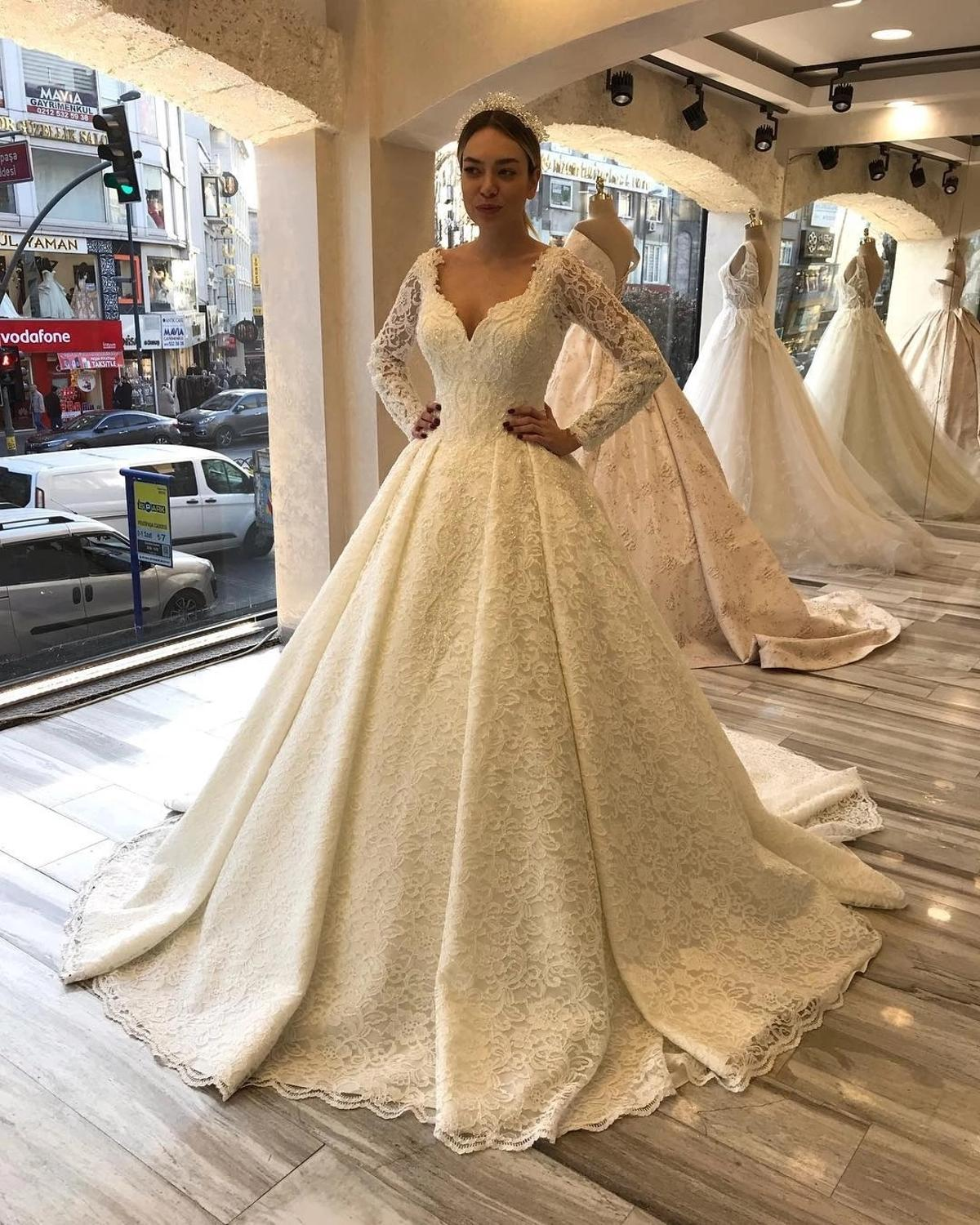 2020 Autumn Long Sleeves Wedding Dress A Line Full Lace Sweetheart Buttons Back Vintage Church Bride Formal Bridal Dresses Wedding Dresses Aliexpress,Wedding Dresses Nordstrom Sale