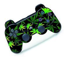 Зеленый лист круто кожа наклейка для PS3 Controller Playstation Remote Controller