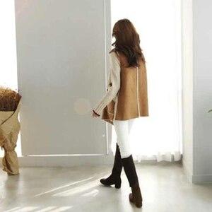 Image 5 - TWOTWINSTYLE Koreaanse Lam Wollen Vest Jassen Vrouwelijke Mouwloze Revers Kraag Casual Jas Voor Vrouwen Plus Dikke 2019 Winter Mode