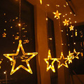 Пятиконечная звезда светодиодный занавес свет звезды свет Рождество красочные огни Открытый водонепроницаемый декоративные святящиеся п...