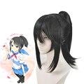 Игровой симулятор yдругих игр, черный синтетический съемный парик для волос Ayano Aishi + шапочка для парика