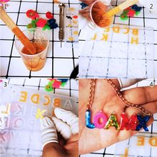 N58F DIY Handmade Gummy Bear Alphabet Letters Epoxy Resin Molds Jewelry Making Key Chain Tools Kit with AB Resin Glue Gift
