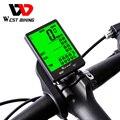 Запад biking Велоспорт Спидометр 2.8 ''большой Экран Водонепроницаемый 20 функции Беспроводной и проводной велосипед одометром Велосипедные вел...