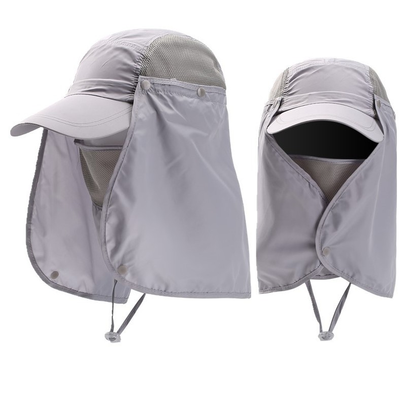 Hats Cap Visor Neck-Cover Sun-Protector Face Fishing Hiking Outdoor-Sport Unisex