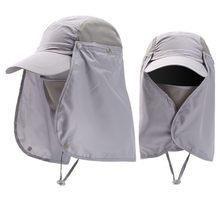 Visière unisexe, chapeau de Protection solaire, Protection contre les UV, couverture du cou, Protection solaire de plein air, chapeaux de pêche de randonnée
