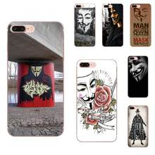 For Galaxy J1 J2 J3 J330 J4 J5 J6 J7 J730 J8 2015 2016 2017 2018 mini Pro Soft Retail New Fashion V For Vendetta Anonymous Mask(China)