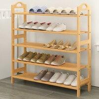Shoe Racks Bamboo Wood Shoe Shelf Storage Organizer home Storage Shelf Rack For Bathroom Kitchen 5 Tiers Multiple Use Shelves
