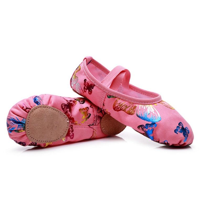 Hot Canvas Flat Yoga Teacher Gymnastic Ballet Dance Shoes Children's Ballet For Girls Women Dancing