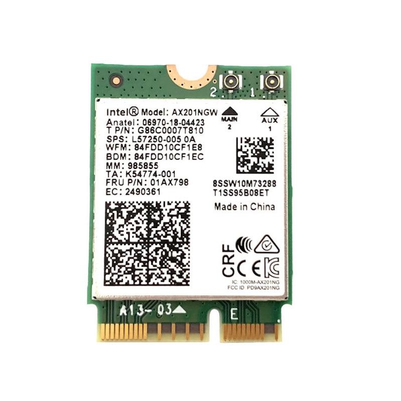 Intel Wi-Fi 6 AX201 Bluetooth 5 0 Dual Band 2 4G 5G Wireless NGFF Button E CNVi Wifi Card AX201NGW 2 4Ghz   5Ghz 802 11ac   ax