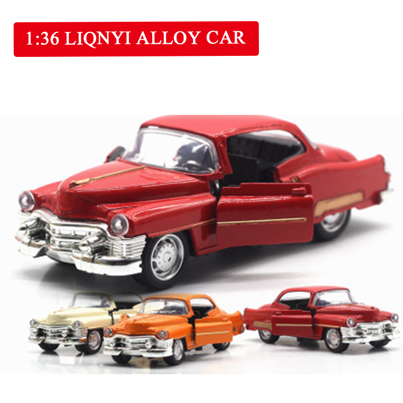 1:36high Simulation Cadillac Retro Vintage Car, Alloy Pull Back Car Models,metal Diecasts Toy Vehicle,kid's Gift,free Shipping