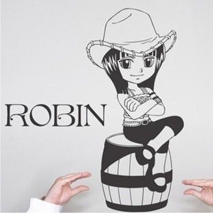 Robin One Piece Wall Decal Vinyl Wall Stickers Decal Decor Home Decorative Decoration Anime One Piece Car Sticker Wall Stickers Home Garden Aliexpress