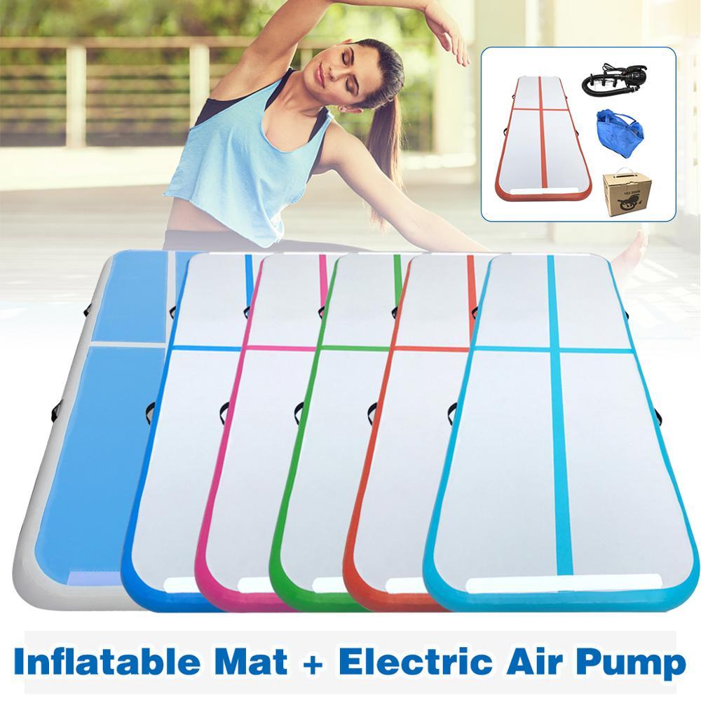 1m 2m 3m Inflatable Air Track Gymnastics Mattress Gym Tumble Airtrack Floor Yoga Olympics Tumbling Wrestling Yogo Electric Pump