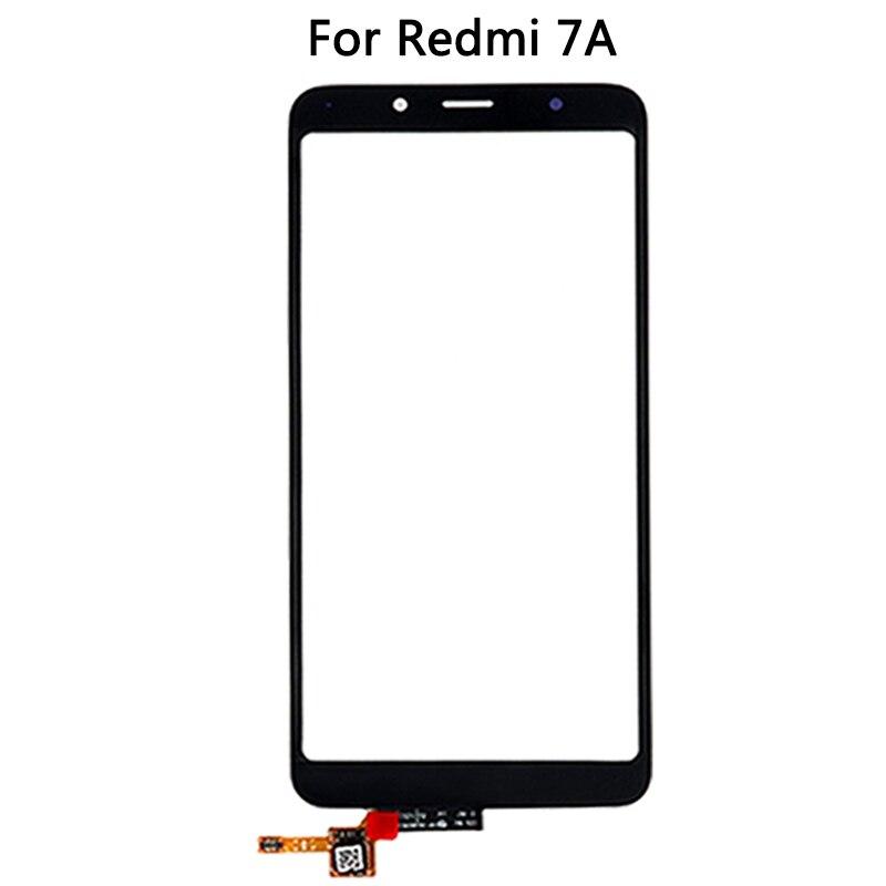 10 pçs para xiaomi redmi 7a tela de toque painel vidro frontal capa para redmi 7a exterior lente vidro substituição reparação peças reposição
