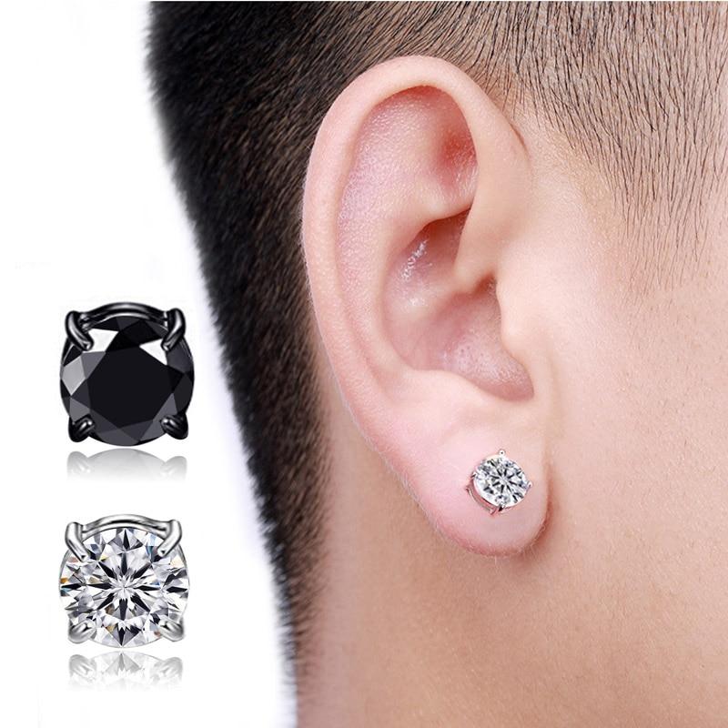 No Piercing High Quality Zircon Magnetic Stud Earings For Women Men Kids No Hole Crystal Ear Studs Jewelry Magnet Earring