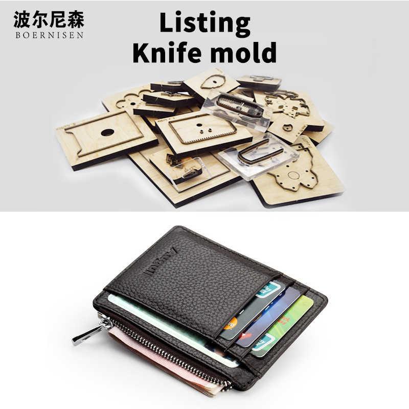 Küçük cüzdan ahşap kalıp kesme Diy 2020 çok fonksiyonlu kart çantası ölür için uygun kalıp kesme makineleri bıçak kalıp