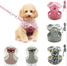 2019 New Breathable Mesh Small Dog Pet Harness and Leash Set Puppy Vest For Cat