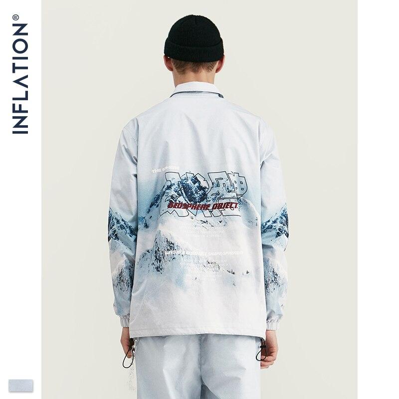 Image 4 - Inflação 2020 design casual solto ajuste blazer com impressão cor branca streetwear masculino terno estilo da forma terno blazersConjuntos Masculinos   -