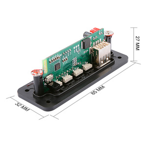 Image 4 - AIYIMA 12 в MP3 Bluetooth декодер плата цветной дисплей WMA WAV FLAC APE декодирование USB TF FM своими руками