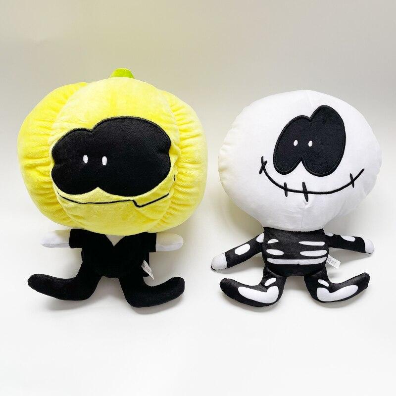 Комплект из 2 предметов, в пятницу Funkin плюшевая игрушка жуткий месяц поверхность препятствует скольжению и насос мягкая плюшевая подушка чу...
