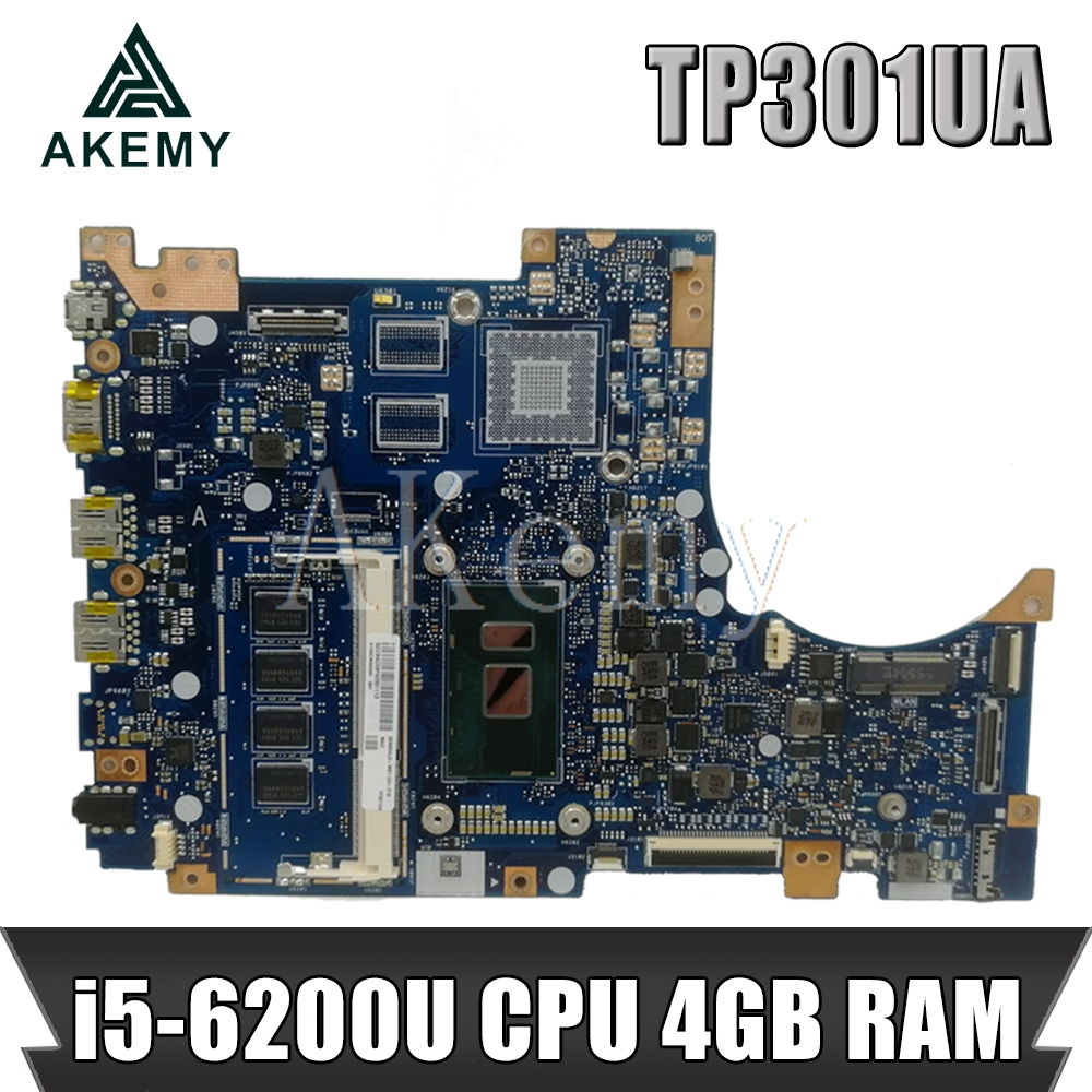 TP301UA/ i5 6200U CPU 4GB RAM For ASUS TP301U TP301UA TP301UJ TP301UJ Laptop motherboard TP301UA Mainboard 100% Tested|Motherboards| |  - title=