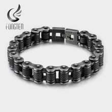 Мужской браслет цепочка fongten Черный винтажный из нержавеющей