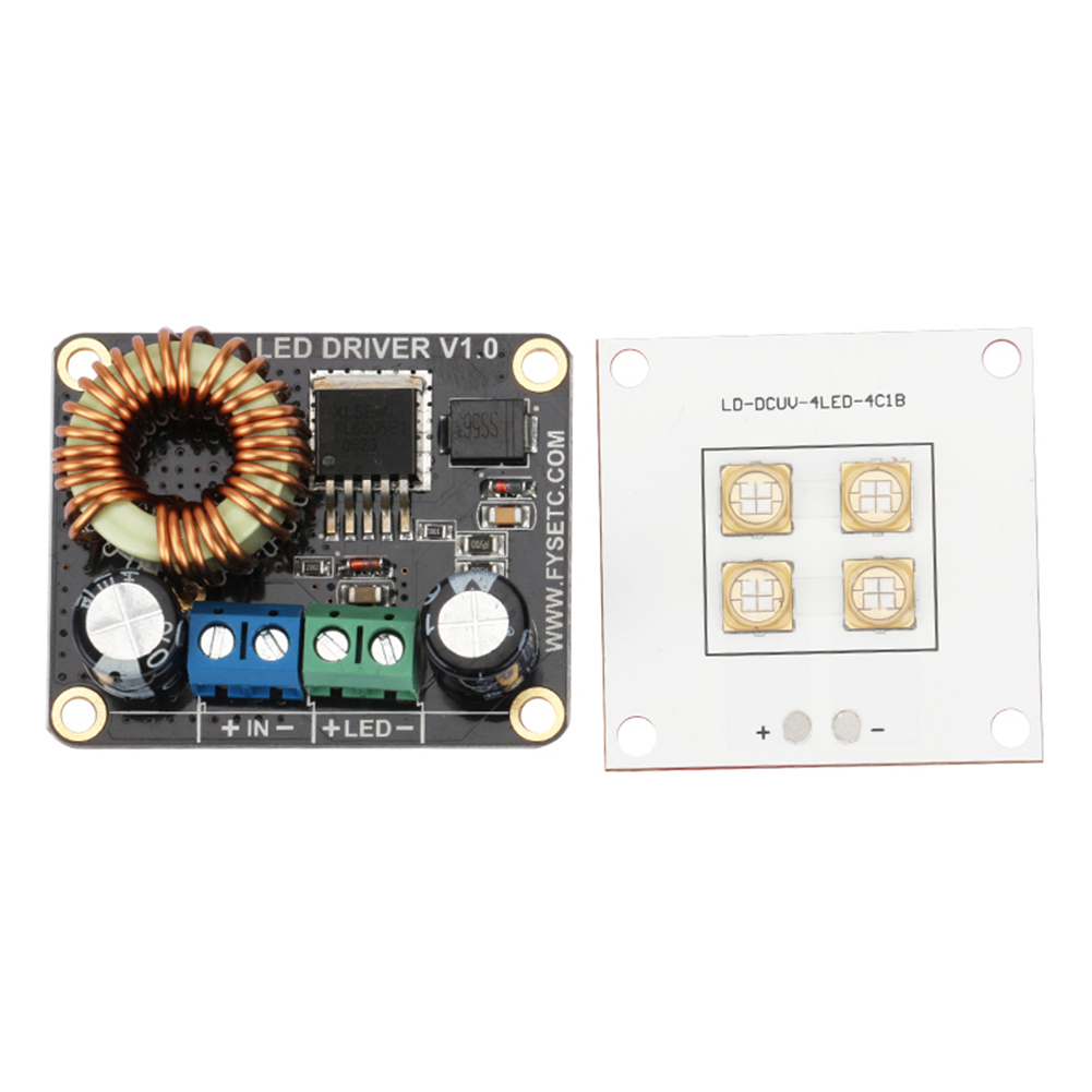 2pcs/set Constant Current UV Driver Board Printing Kit 30W Source Module Led Light Lamp Panel Boost 40W For SLA DLP