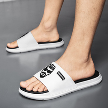 Summer Men Slippers Home Flip Flops Gingham Style Bathroom Slides Male Outside Fashion Women Couple Soft Sole Chanclas Hombre