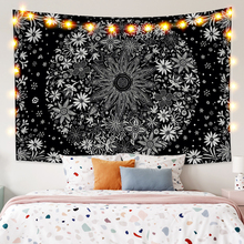 Hippie Skull Tarot Wall Blanket Psychedelic Tapestry Wall Mounted Mandala Moon Starry Ouija Boho Decor Wall Hanging Fabric Tapes astoral green plant picture cactus mandala printed tapestry wall hanging decorative large polyester fabric boho decor ouija