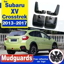 For Subaru XV Crosstrek 2013-2017 Set Molded Car Mud Flaps Mudflaps Splash Guards Mud Flap Mudguards Fender Front Rear Styling set car mud flaps for subaru outback 2015 2018 mudflaps splash guards mud flap mudguards fender front rear styling 2016 2017
