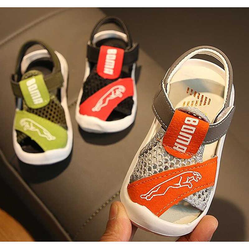 Kinder Sandalen 2020 Kinder Sommer Schuhe Offene spitze Kleinkind Jungen Sandalen Orthopädische Sport Pu Leder Baby Jungen Sandalen Schuhe