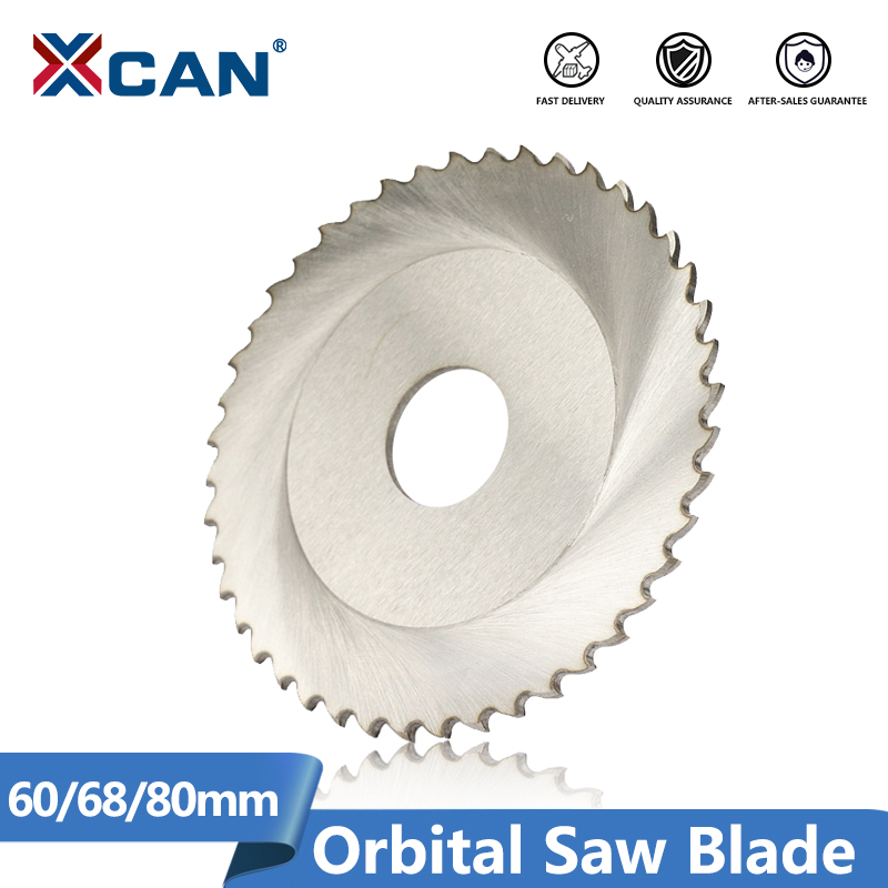 XCAN 1pc Diameter 63/68/80mm 44/64/72/80T HSS M35 Circular Saw Blade Stainless Steel Pipe Tube Cutting Orbital Saw Blade