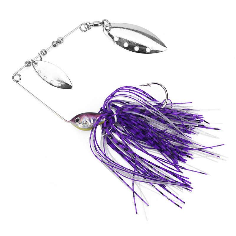 เหยื่อตกปลา whisker Compound หมุน Leaf VIB เงาปลาตะขอตะขอตะขอไม้ช้อนอุปกรณ์เสริม spinnerbait Tackle