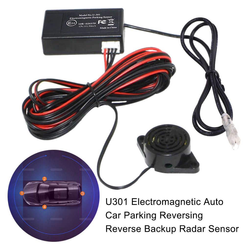 12V Electromagnetic Auto Car Reversing Parking Backup Radar Sensor w// Led Buzzer
