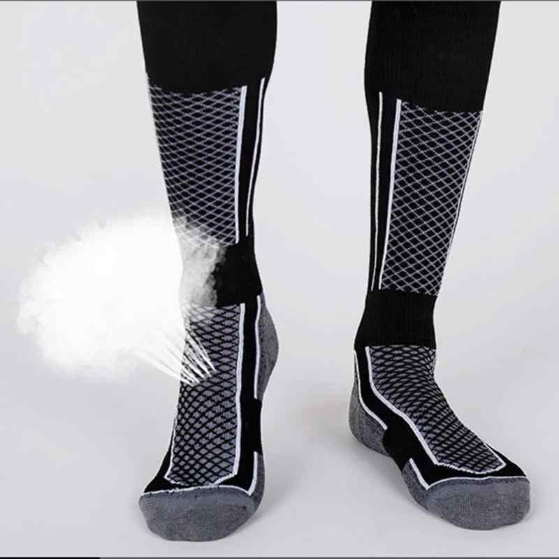 Calcetines de esquí al aire libre de algodón grueso deportes Snowboard ciclismo esquí fútbol calcetines hombres mujeres medias de absorción de humedad