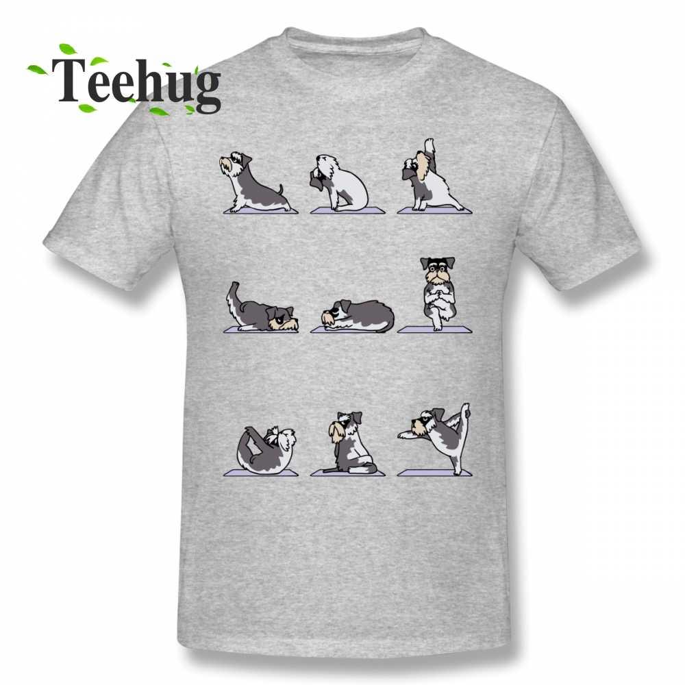 Custom Miniature Schnauzer Yoga T Shirt Cute Dog Tee Shirt Male 2018 New Unique Design For Man 100 Cotton Clothes Aliexpress
