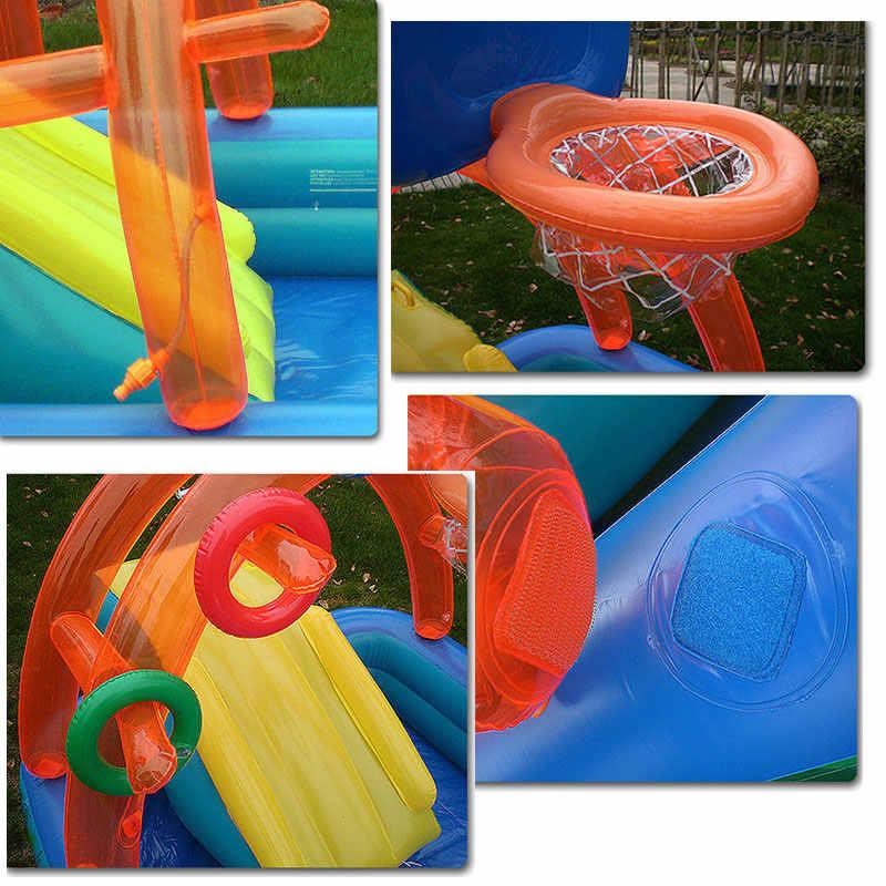 新水子供のためのスライド楽しい芝生水スライド子供のためのインフレータブルプール夏子供のスライドセット裏庭屋外おもちゃ