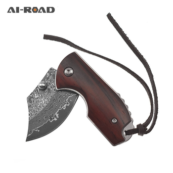 Folding Knife Damascus Knife High Hardness Mini Folding Knife Outdoor Rescue Survival Field Tool Gift Collecting Knife stenzhorn new damascus black antelope folding knife outdoor portable field army high hardness wilderness survival small knives