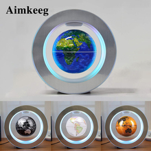 Magnetic Levitation Globe Lamp Novelty LED Decorative Table Lamp Round World Map Floating Night Light for Kids Christmas Gift