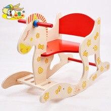 Новинка, деревянная лошадка-качалка, деревянная лошадка-качалка, детская развивающая игрушка, лошадка-качалка для детей 1-5 лет, игрушка в подарок