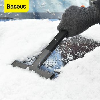 Baseus skrobaczka usuwanie śniegu przednia szyba samochodu okno śnieg czyszczenie narzędzie do masażu TPU Auto Ice Breaker łopata do śniegu tanie i dobre opinie CN (pochodzenie) 35cm 15cm TPU+ABS SKROBACZKA DO LODU 120g car ice scraper snow shovel Double-side Scraper TPU Scraper Head