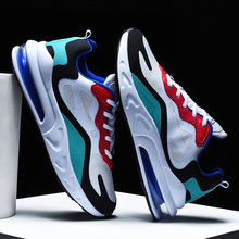Male students men fashion sneakers air cushion foam sole color fly woven upper running shoes