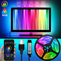 Bluetooth USB Светодиодные ленты светильник гибкий подвесной светильник 1 м 2 м 3 м 5 м 10 м 15 м цветная (RGB) светодиодная лента диод поверхностного мон...