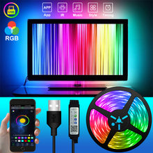 Bluetooth USB LED Strip Light Flexible Lamp 1M 2M 3M 5M 10M 15M RGB Led Tape Diode SMD 5050 Desk Screen TV Background Lighting