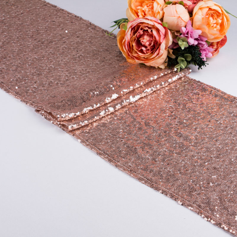Gold Rose Gold Silver Sequin Table Runner Cheap Wholesale For Table Coth Weddings Decoration Hotel Dinner Party Table Runners