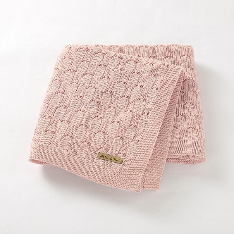 Baby Blankets Newborn 100%Cotton Knitted Infant Boys Girls Stroller Swaddle Wrap Super Soft Toddler Kids Bedding Blankets 100*80