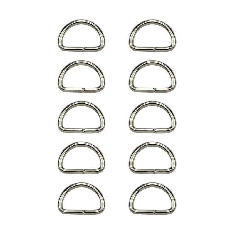 10Pcs/lot Matal D Ring D Jump Ring Snap Hook Trigger Lobster Clasps Clips DIY Bag Parts Accessories 14mm