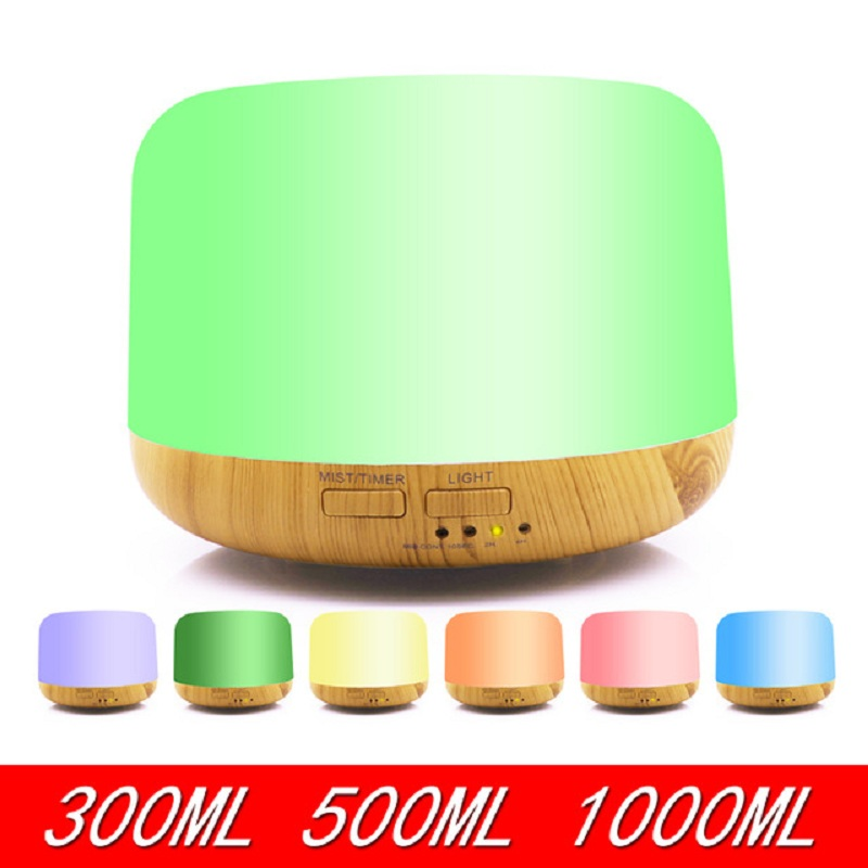 300~1000ml Remote Control Ultrasonic Air Aroma Humidifier With 7 Color Changing LED Lamp Electric Essential Oil Aroma Diffuser