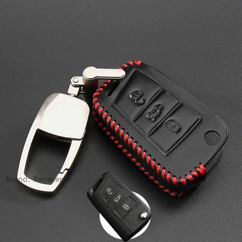 2019 Новый чехол для ключей из натуральной кожи для VW GOLF 4 5 6 7 Passat B5 B6 Tiguan Polo Bora Scirocco Jetta