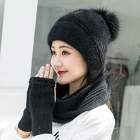 women Winter autumn spring knitted Hats Thick Warm Beanie Skullies Hat Female knit Letter Bonnet Beanie Caps Outdoor Riding